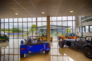 Porcelain tiles and new LED lighting in Bookatrack.com's new Caterham franchise