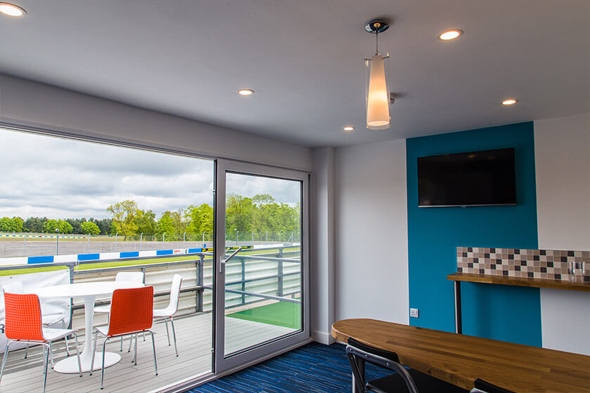 Donington Park VIP suite after refurbishment