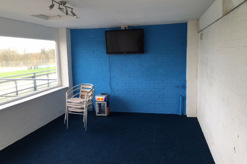 In need of TLC and more than just a lick of paint: VIP suite at Donington Park