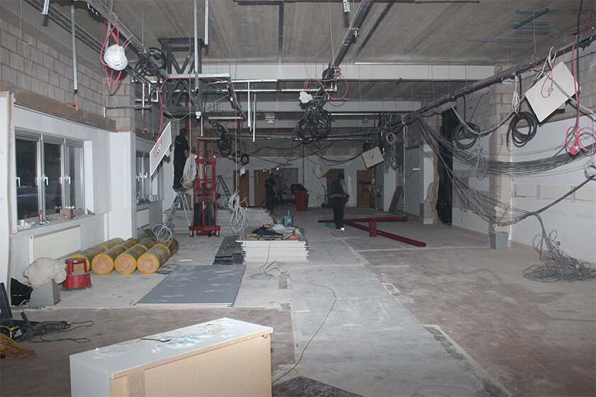 Part of the ground floor as refurbishment works get under way