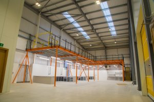 Mezzanine Flooring creates industrial space
