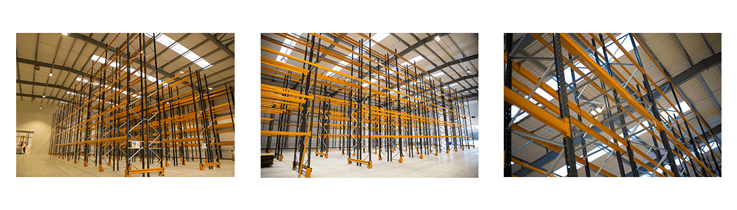 Warehouse pallet racking increases work space