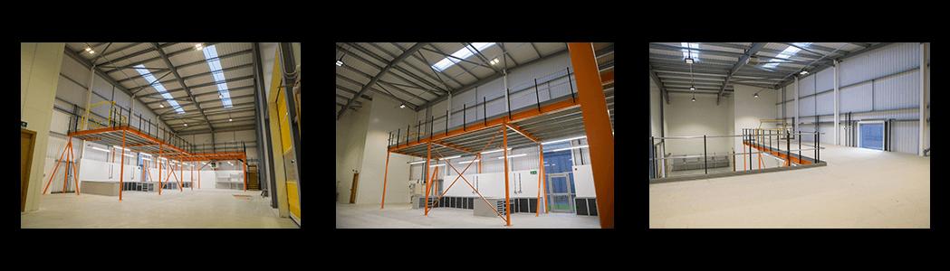 Mezzanine Flooring increases industrial space in warehouse