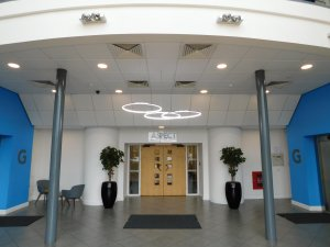 Halo lighting features in revitalised entrance