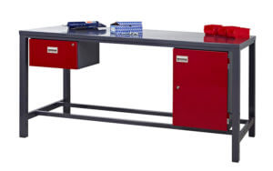 Heavy Duty Workbench [Red Drawer & Cupboard 2] copy