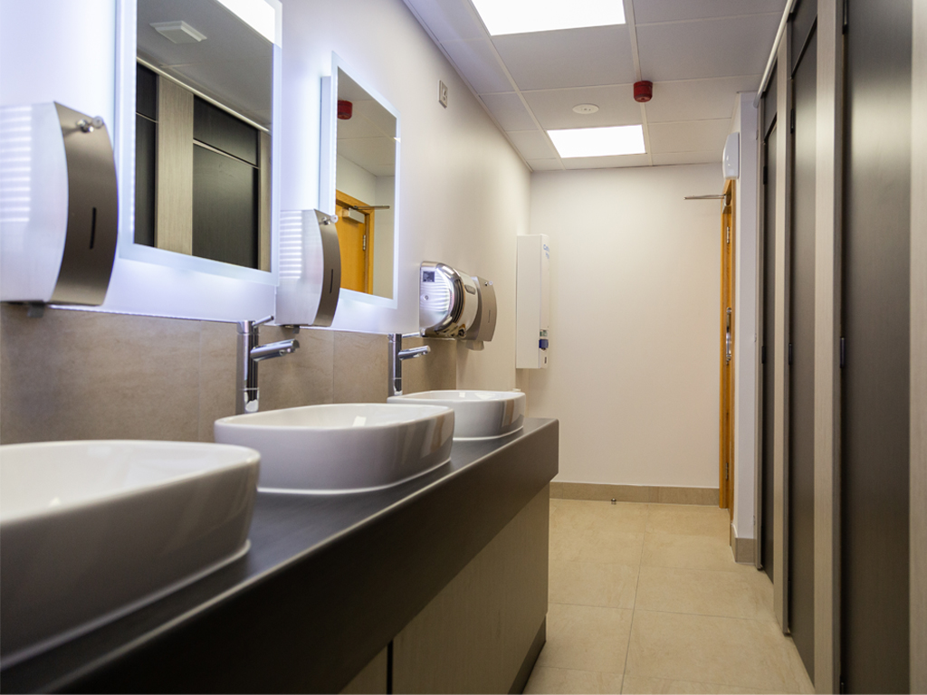 Commercial design & refit for Hill-Rom WC's